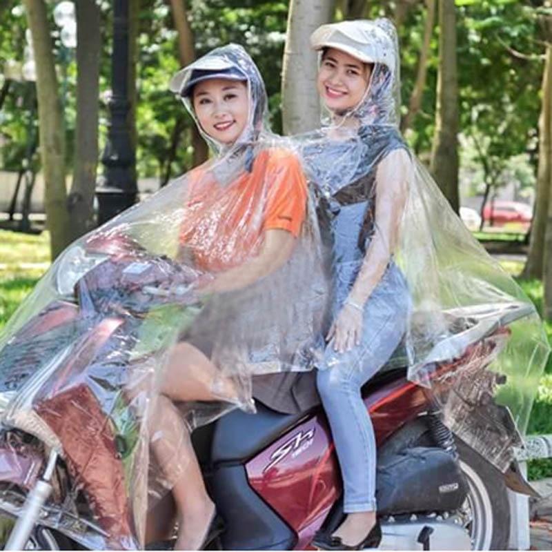 Áo mưa trong suốt 2 đầu Duy Linh