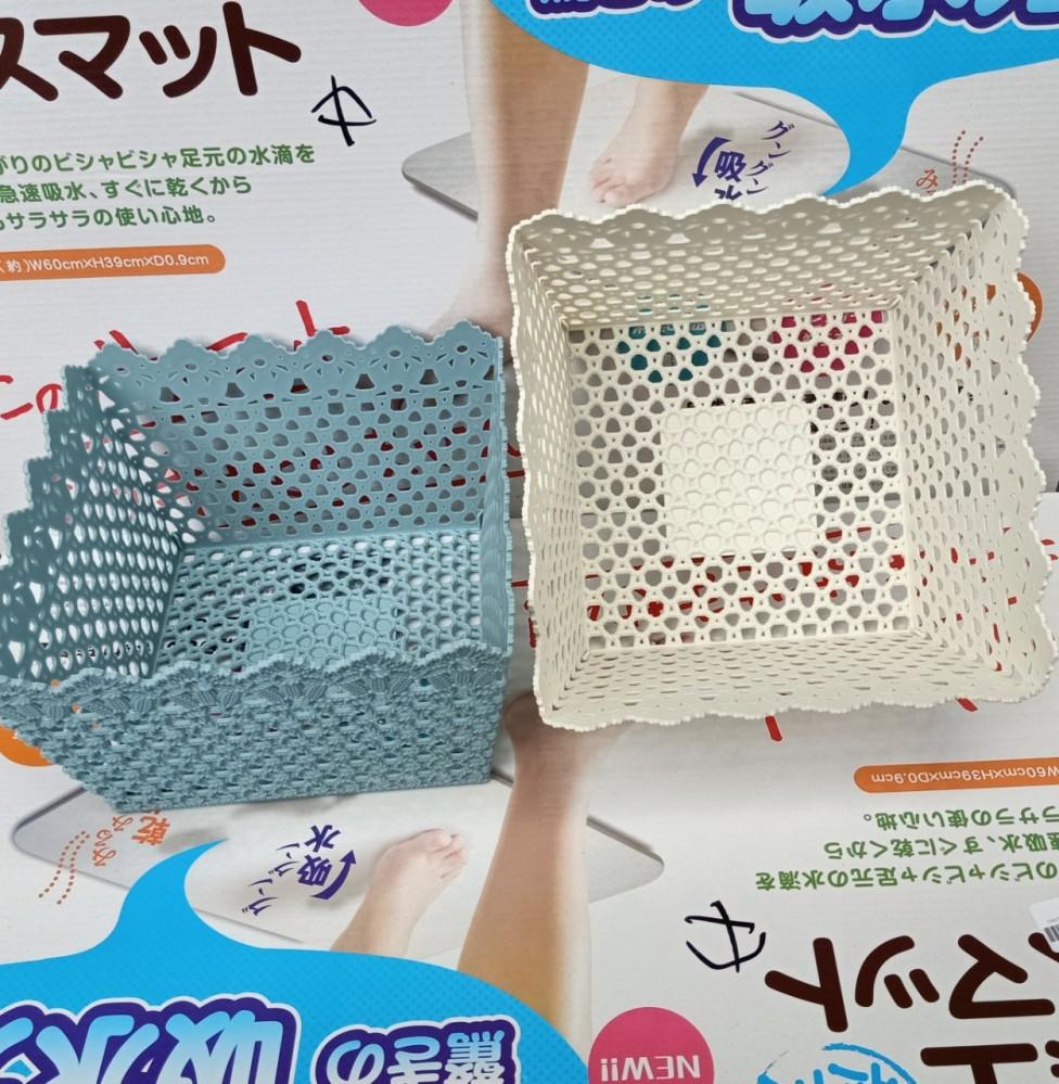 Giỏ nhựa vuông 1252 (22x22 cao 13cm)