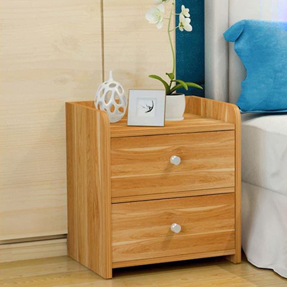 Tủ đầu giường gỗ 2 tầng nhỏ gọn