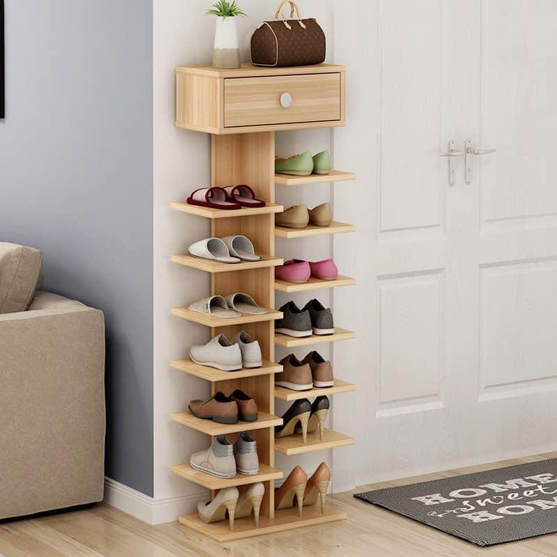 Giá giầy gỗ hình cây 7 tầng