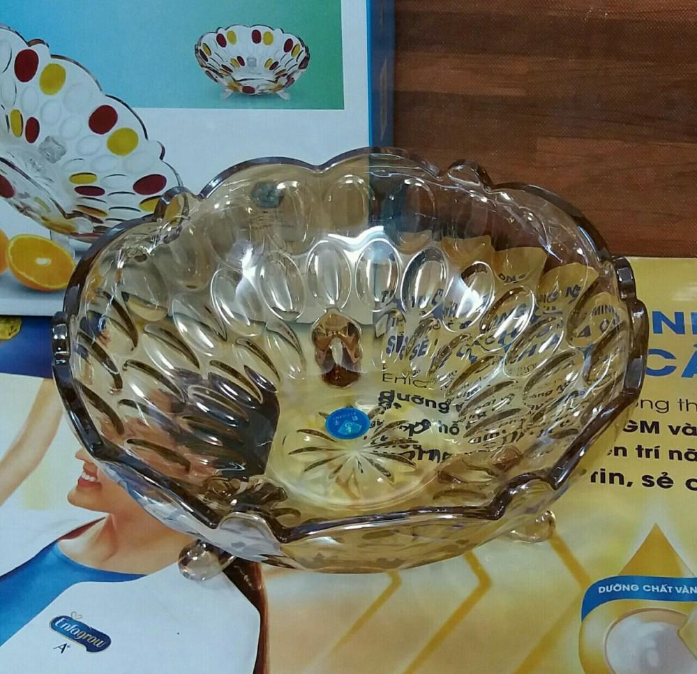Âu thủy tinh 3 chân vàng bi