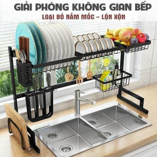 Giá úp bát gác bồn rửa bát (sắt sơn tĩnh điện)