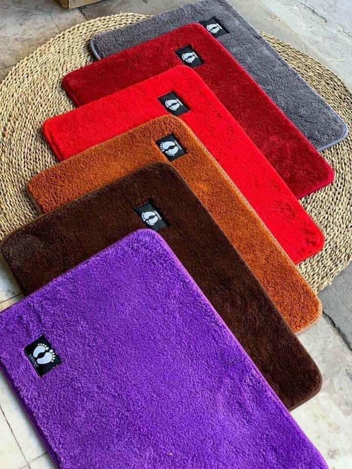 Thảm lau chân nhung Shunc chống trơn (4 màu)