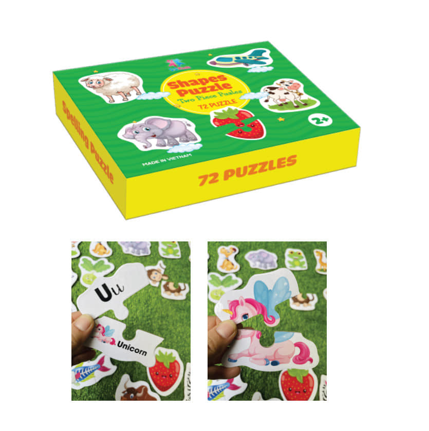 Ghép hình 72 Puzzles gỗ