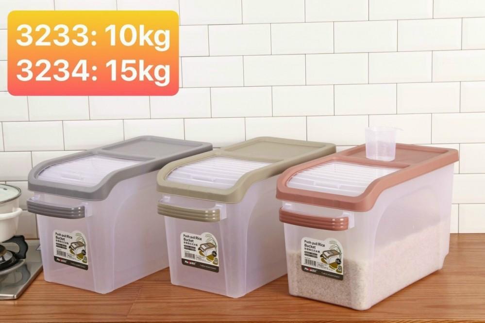 Thùng đựng gạo 15kg mẫu mới