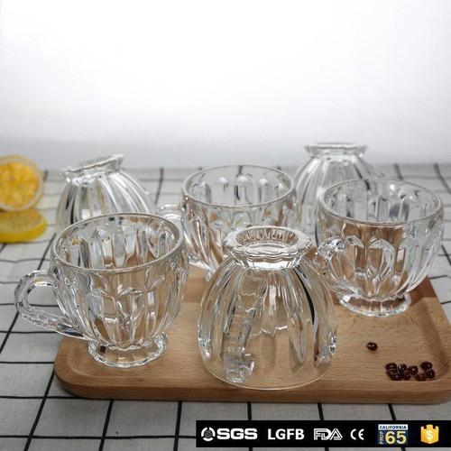 Bộ 6 cốc thủy tinh (hình tròn sọc)