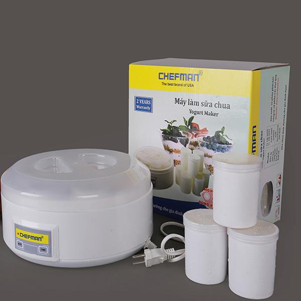 Máy làm sữa chua Chelfman 8 cốc nhựa