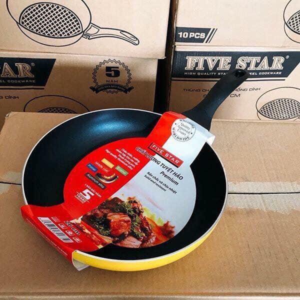 Chảo fivestar Premium 28cm (đáy màu, nấu mọi loại bếp)