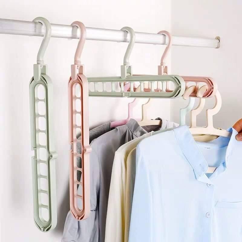 Móc treo quần áo tiết kiệm diện tích 9 lỗ