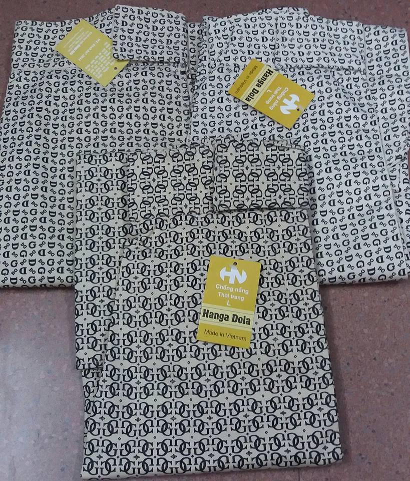 Váy chống nắng vải thô chữ