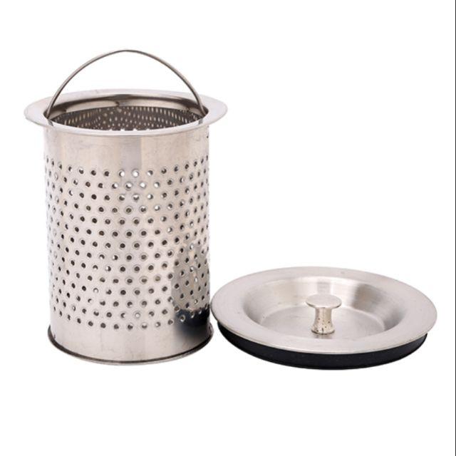 Giỏ lọc rác inox bồn rửa (kèm nắp)