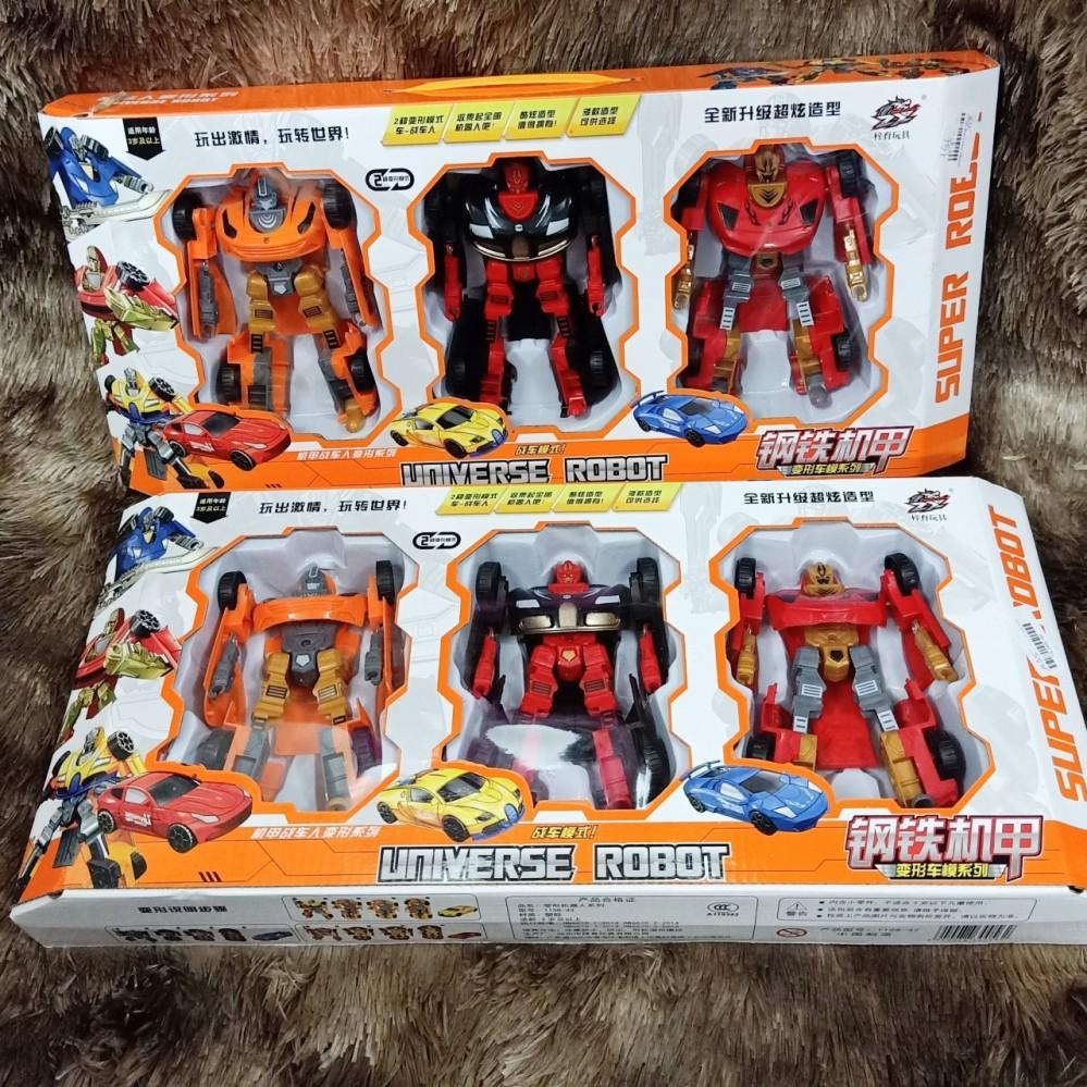 Hộp 3 Robot biến hình - Transformer