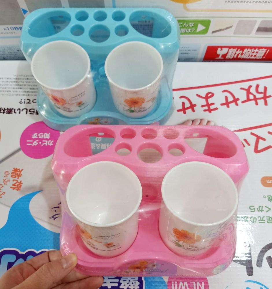 Hộp cắm bàn chải, kem đánh răng (để bệ 2 cốc)