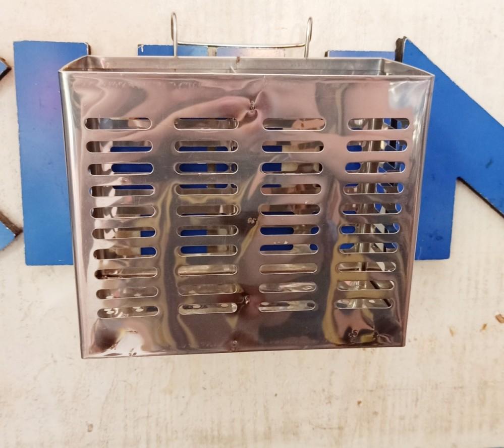 Ống cắm đũa/bàn chải inox vuông