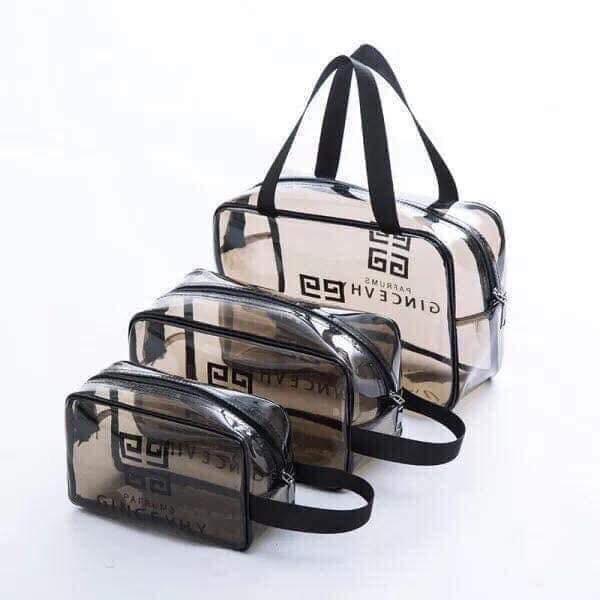 Bộ 3 túi nhựa trong Givenchy