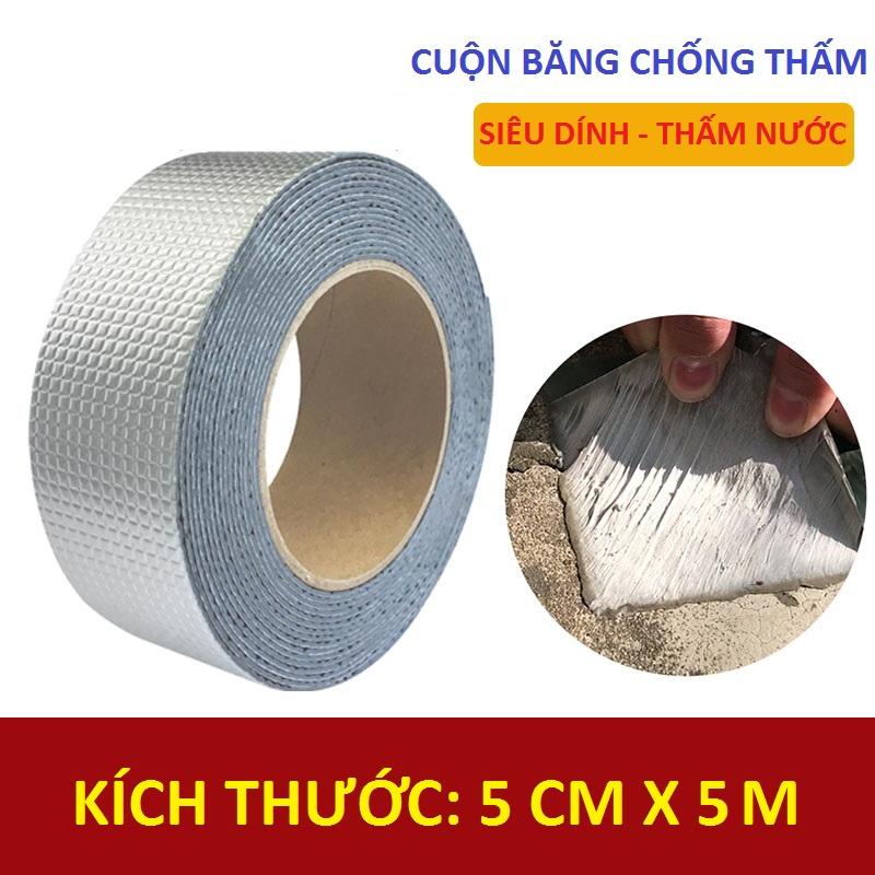 Cuộn băng dính chống thấm siêu chắc bản 5cm