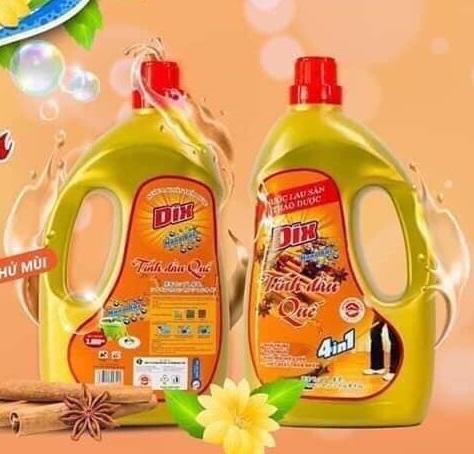 Nước lau sàn Dix can 3,3L đuổi muỗi, côn trùng, diệt khuẩn quế