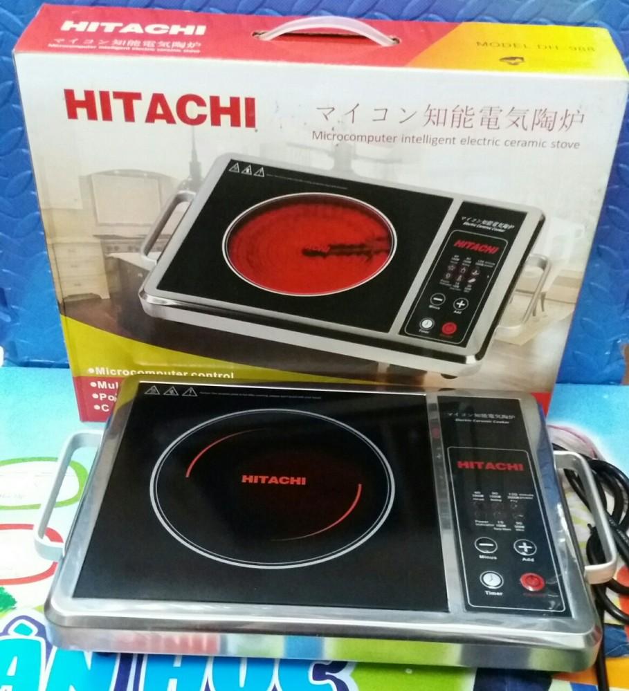 Bếp hồng ngoại Hitachi mặt kính, tay cầm