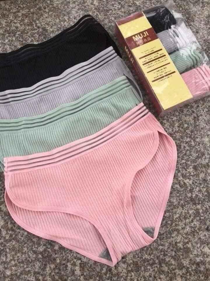 Hộp 5 quần lót muji vạt lượn