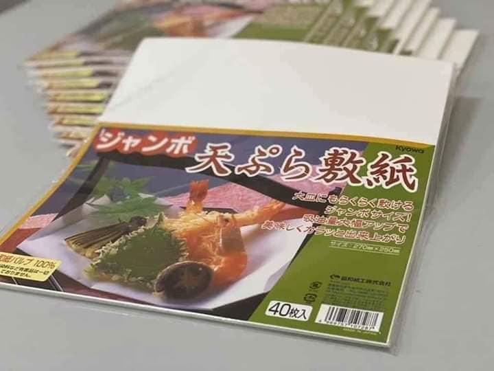 1 tệp giấy thấm dầu ăn Nhật (40 tờ)