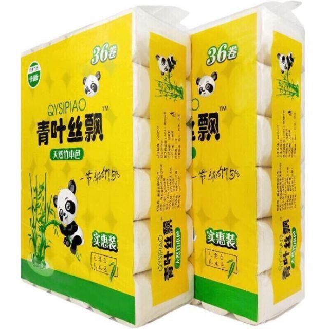 1 túi (36 cuộn) giấy sợi tre Sipao