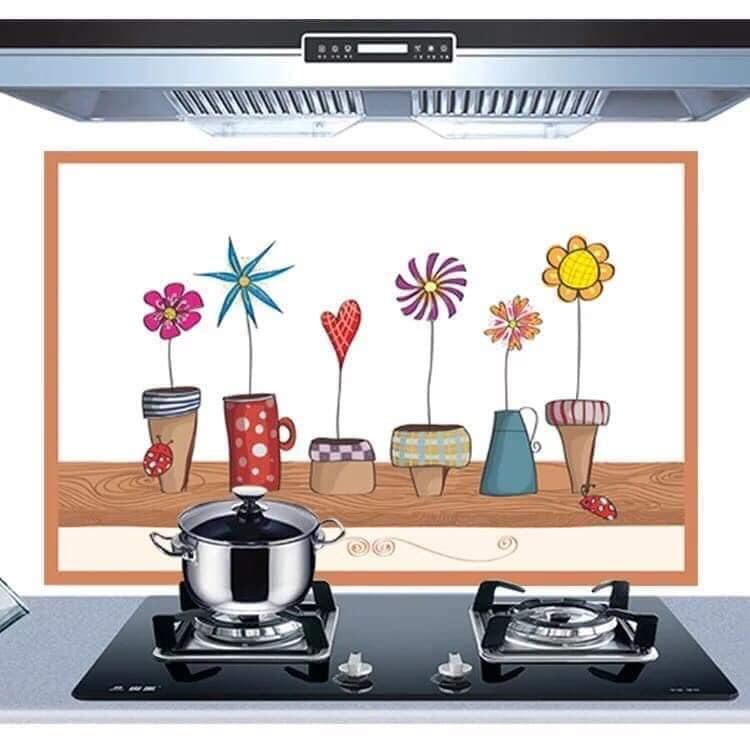 Giấy dán bếp cách nhiệt dầy mẫu mới 60cm x 90cm