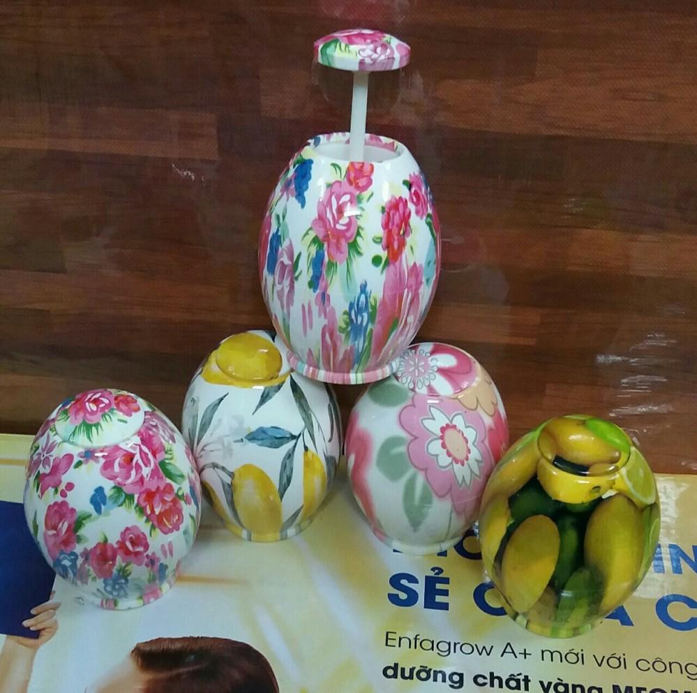 Lọ tăm trứng (nhựa) nhiều màu