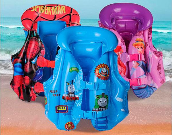 Áo phao bơi lội an toàn cho bé yêu (trơn màu/hoạt hình)