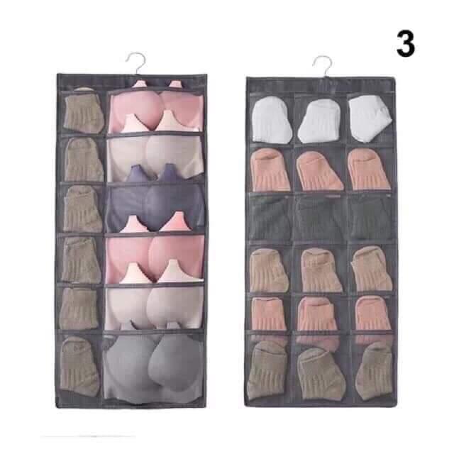 Túi treo đồ lót nhiều ô (2 mặt)
