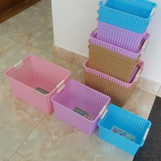 Giỏ nhựa đan 3415-2 (31x22x17cm)
