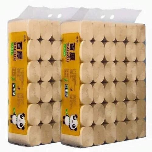 1 túi (36 cuộn) giấy sợi tre Baihou