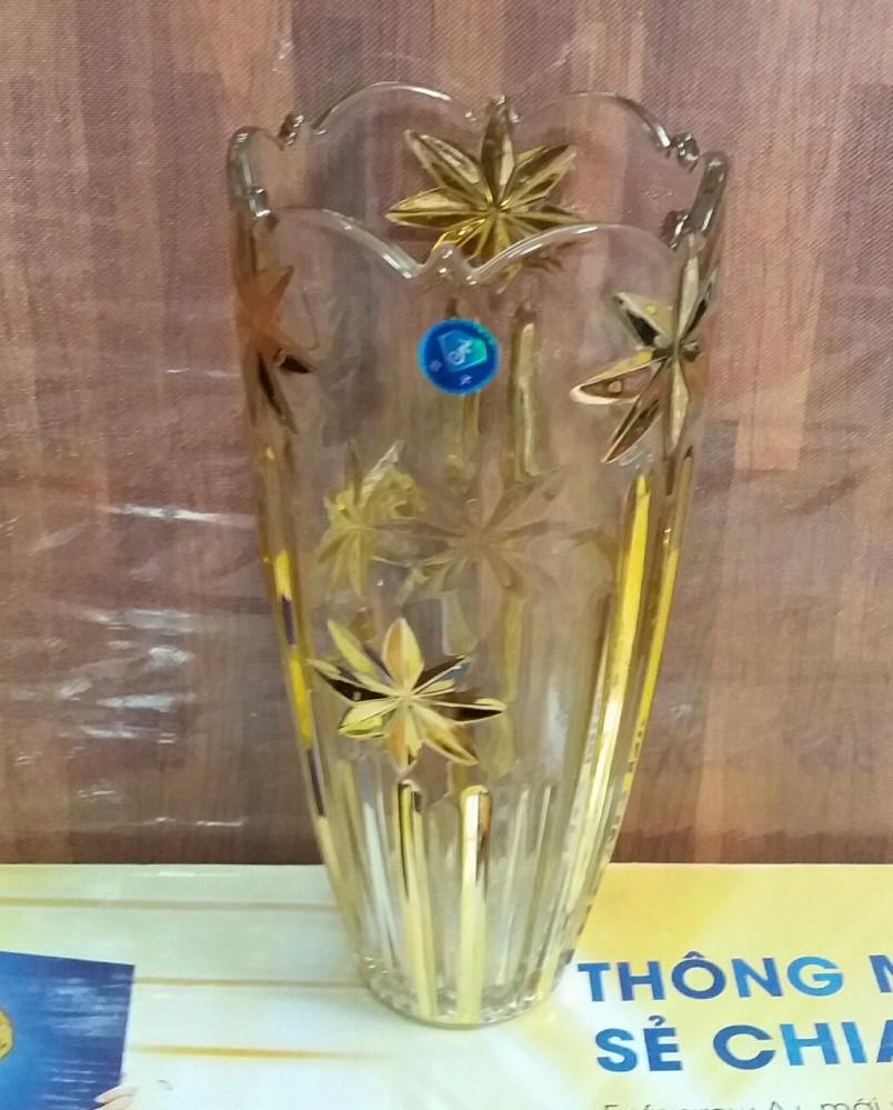 Lọ hoa nhũ vàng sao 30cm