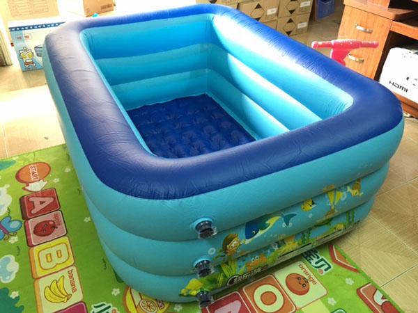 Bể bơi chữ nhật 160x125x55cm (3 tầng)