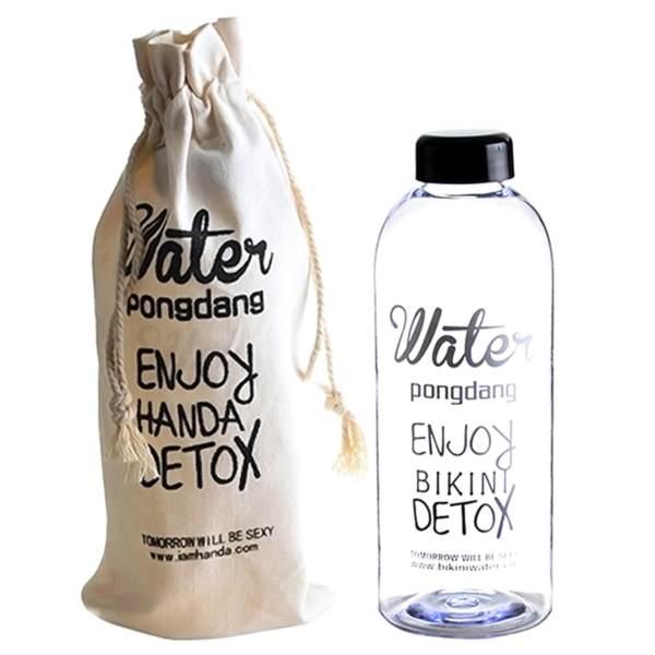 Bình nước kèm túi DETOX 1L