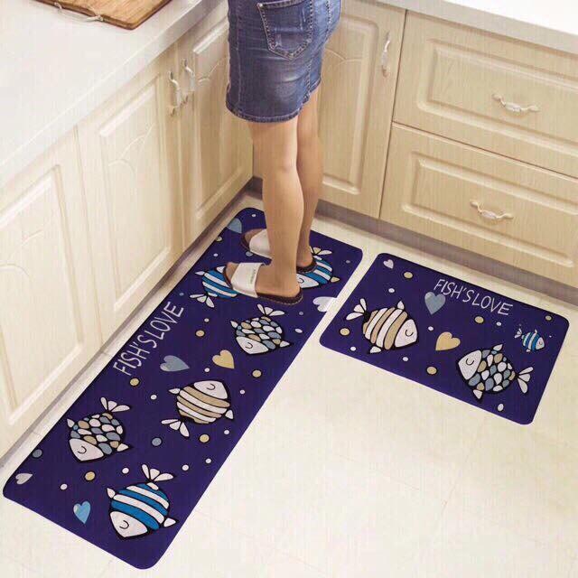 Bộ thảm lau chân nhà bếp chống trượt (nhiều mẫu)