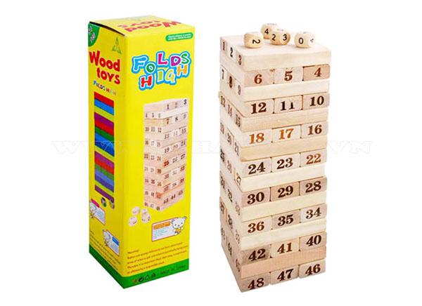 Đồ chơi rút gỗ 54 thanh - gỗ