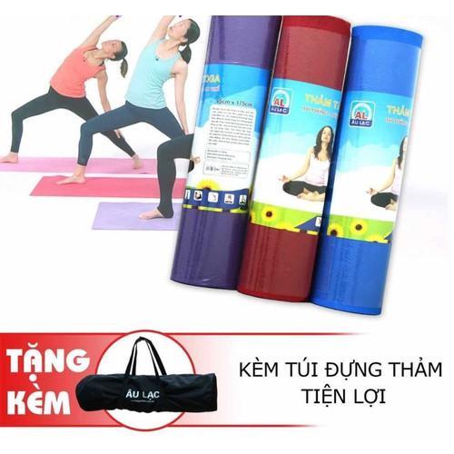 Thảm tập yoga Âu Lạc TPE 8mm kèm túi