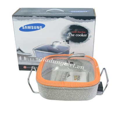Nồi lẩu nướng đa năng Samsung vân đá