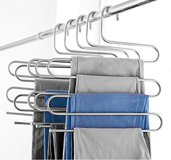 Móc treo quần và khăn 5 tầng inox