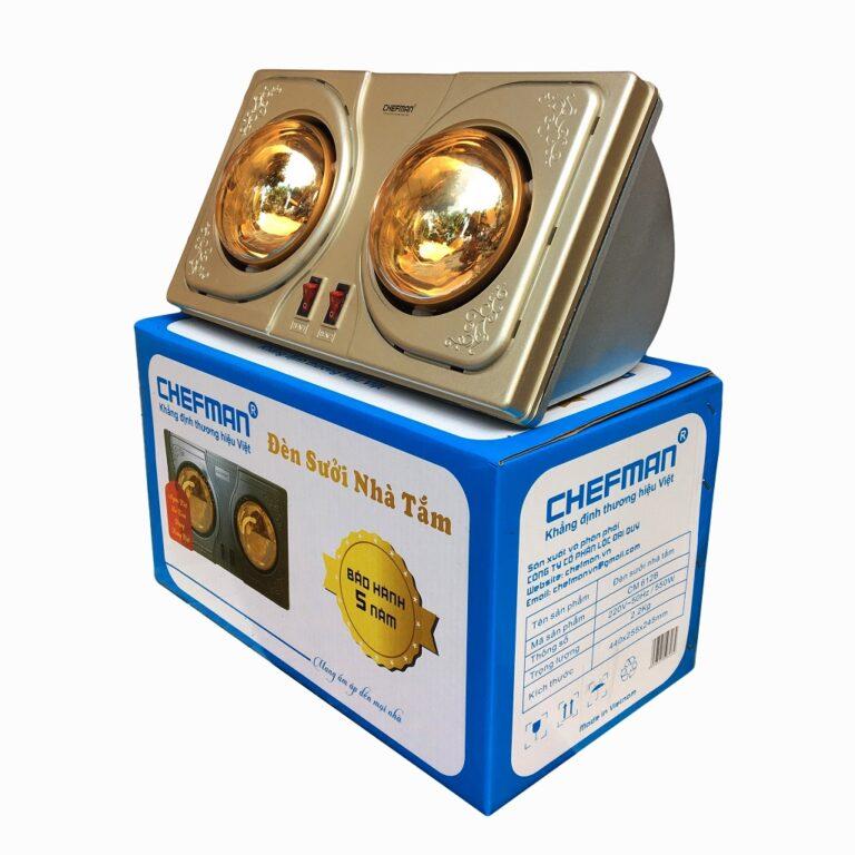 Đèn sưởi Chefman 2 bóng vàng