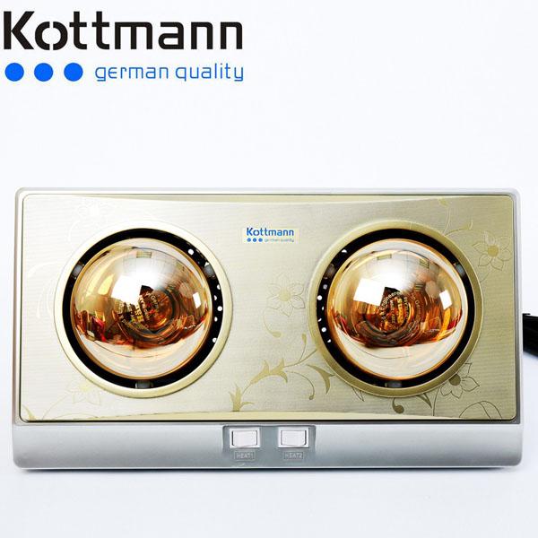 Đèn sưởi nhà tắm Kottmann 2 bóng vàng