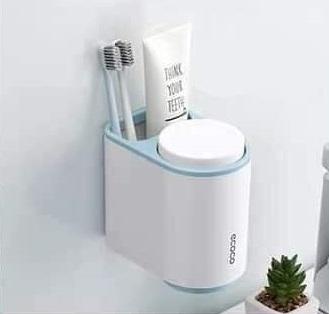 Bộ cắm bàn chải, kem đánh răng Ecoco 2 cốc
