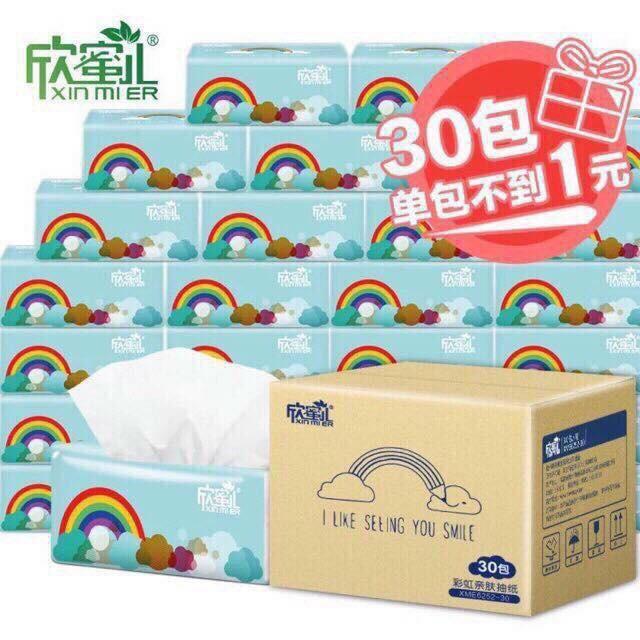 1 thùng (30 gói)  giấy Xin mier (giấy cầu vồng)