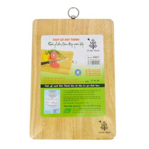 Thớt gỗ chữ nhật Đức Thành (04021) (29x20x1,5cm)