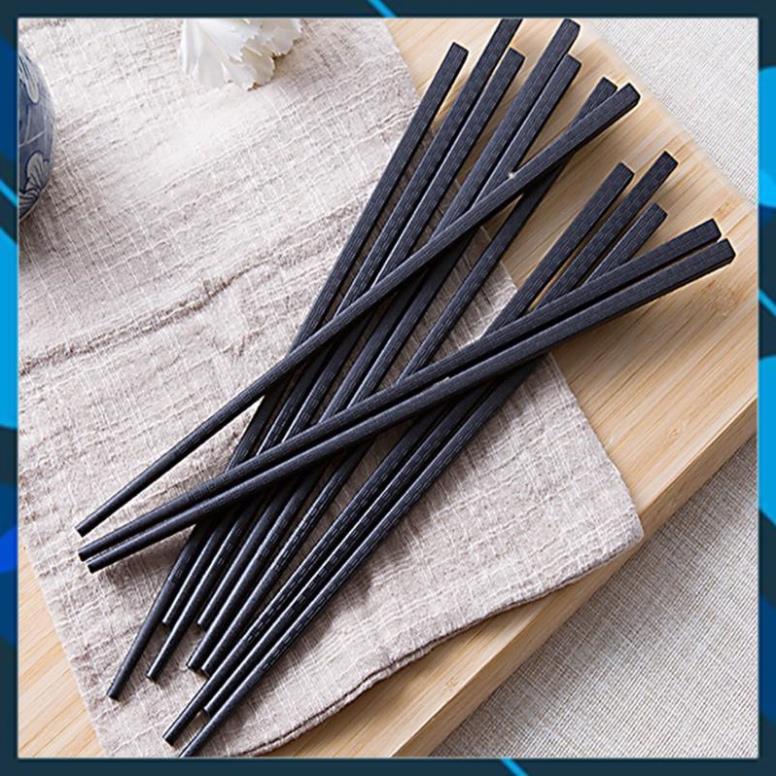 Hộp 10 đôi đũa xuất Hàn đen sần (vỏ Korea Design)