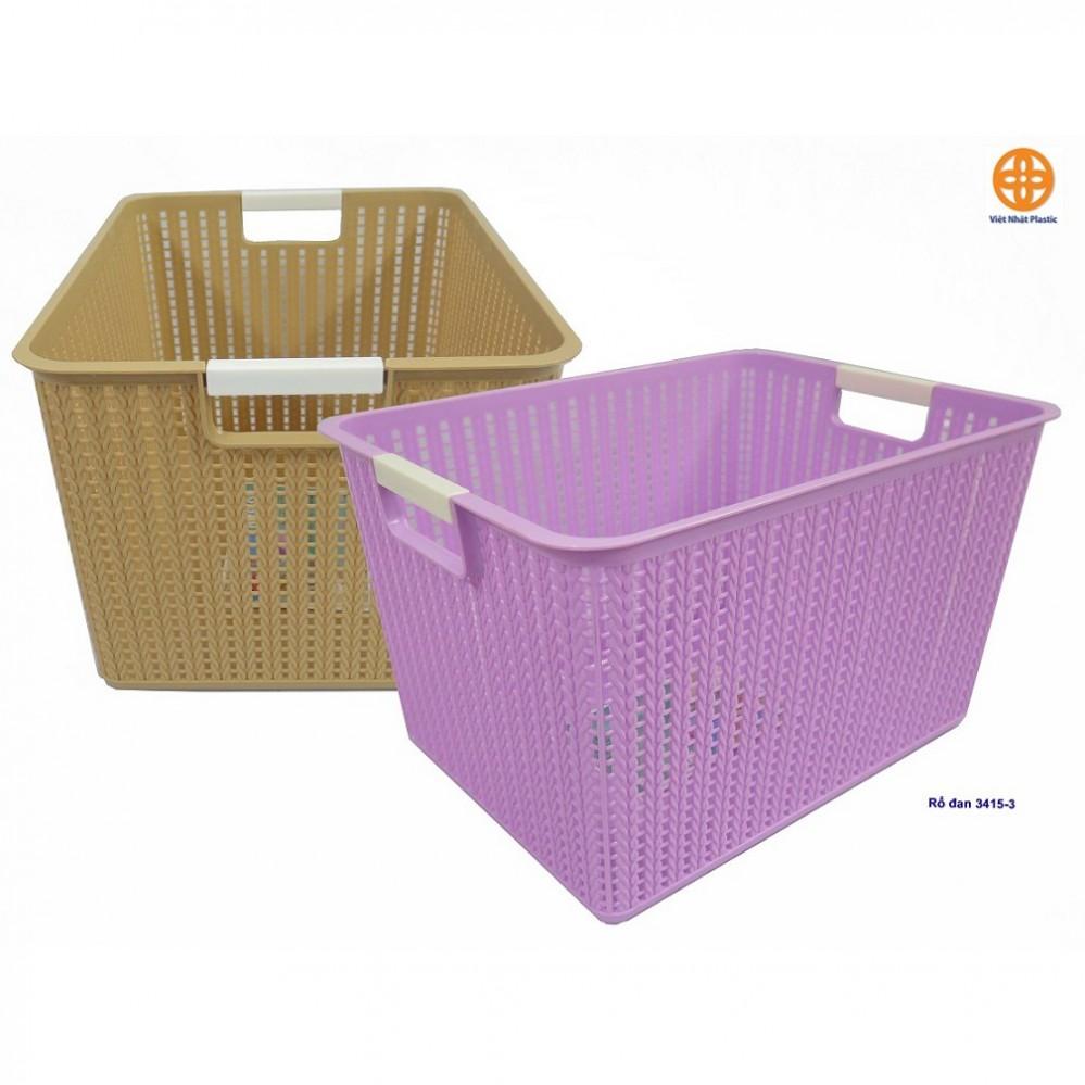 Giỏ nhựa đan 3415-3 (35x26x21cm)
