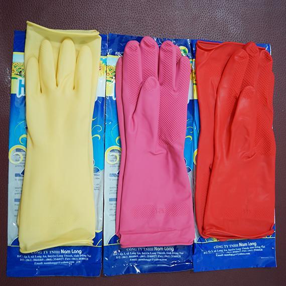 Găng tay cao su Cầu Vồng ngắn
