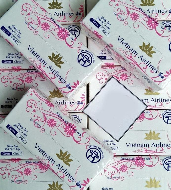 Khăn giấy lụa rút 2 lớp Vietnam Airline 300 tờ