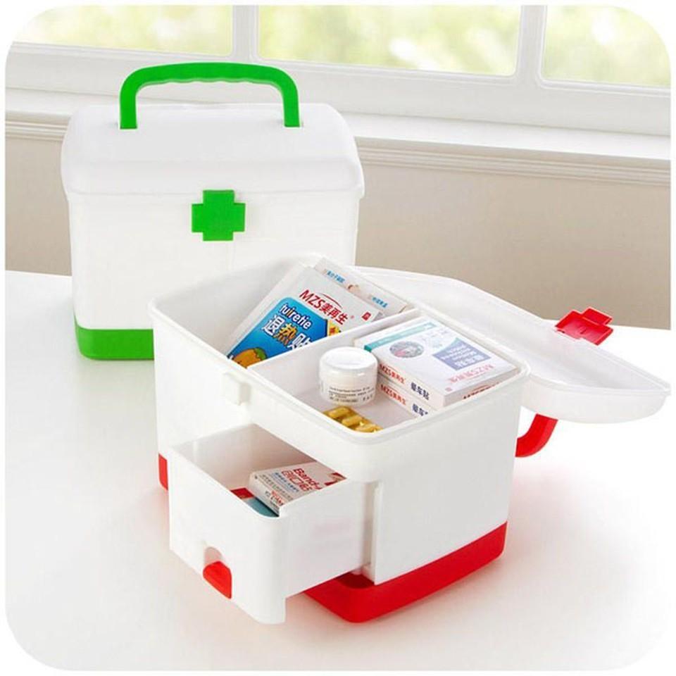 Hộp đựng thuốc và dụng cụ y tế cho gia đình