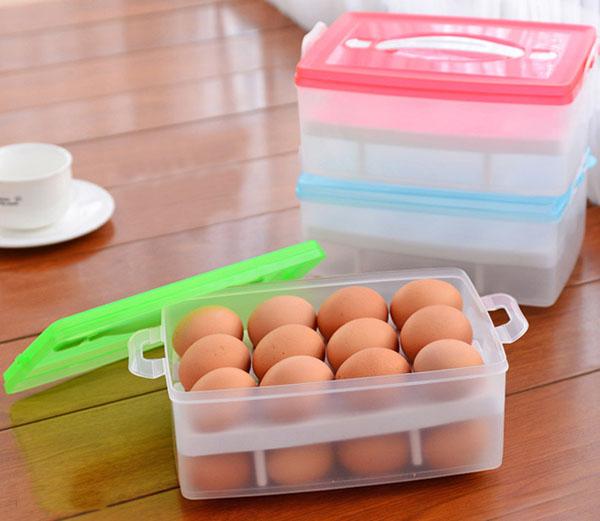 Hộp đựng trứng 2 tầng (24 quả)